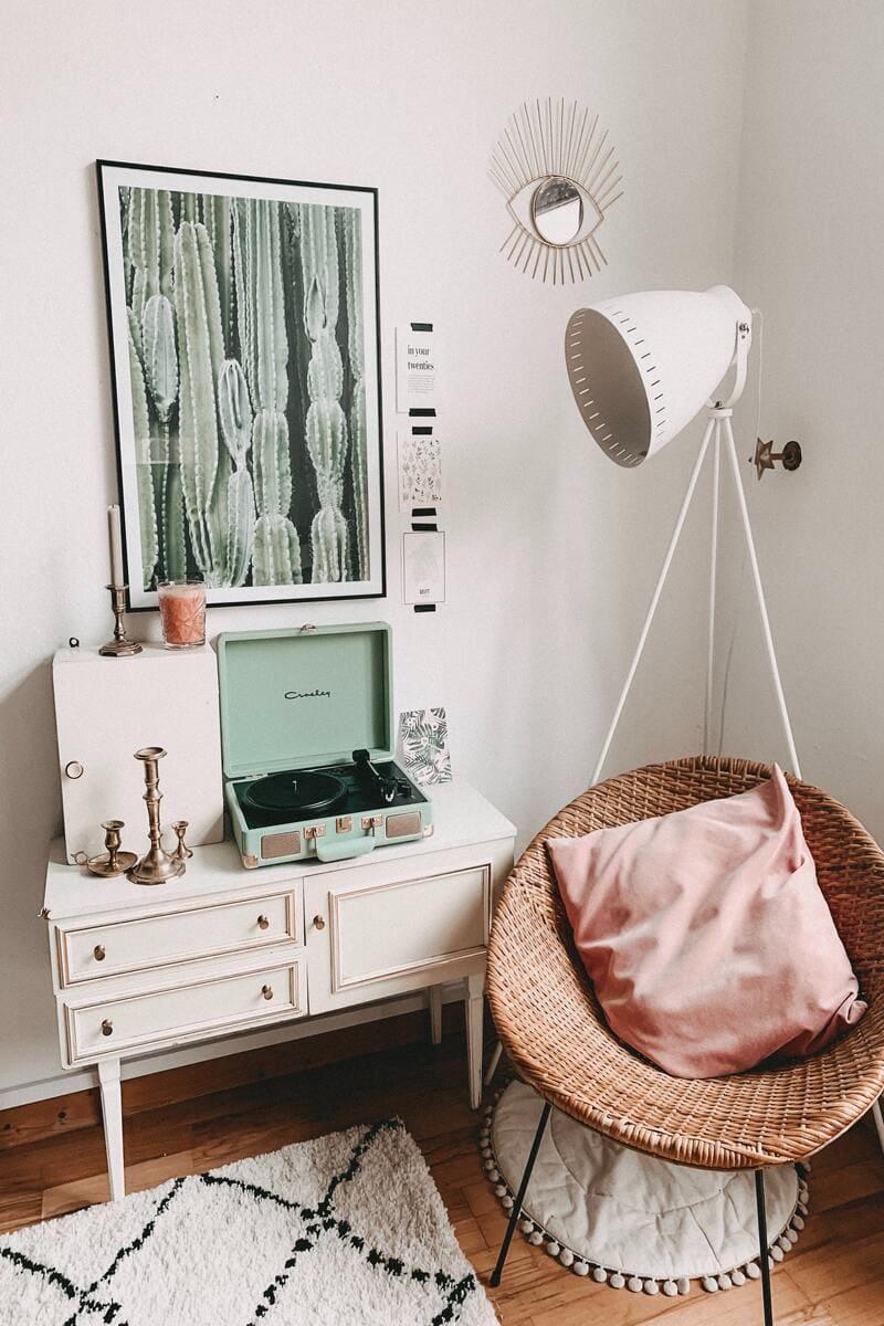 habitación estilo vintage